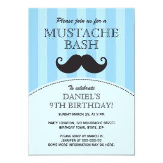 Fiesta de cumpleaños azul del golpe del bigote