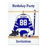 Fiesta de cumpleaños azul y blanca del jersey del comunicado personal