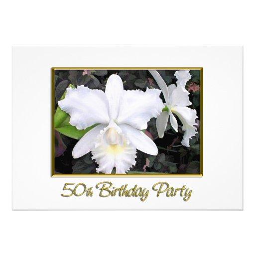 Fiesta de cumpleaños blanca quebradiza de las orqu anuncio