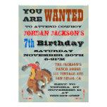 Fiesta de cumpleaños Bucking del vaquero del cabal Anuncio