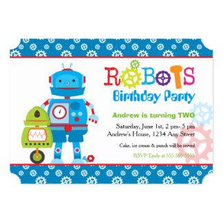 """Fiesta de cumpleaños colorida moderna del muchacho invitación 5"""" x 7"""""""
