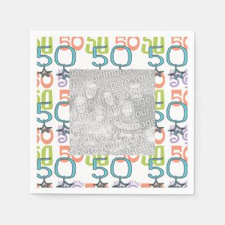 Fiesta de cumpleaños colorida personalizada de la servilleta desechable