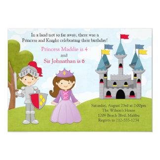 """Fiesta de cumpleaños común de la princesa y del invitación 5"""" x 7"""""""
