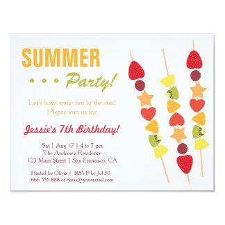 Fiesta de cumpleaños con sabor a fruta tropical invitación 10,8 x 13,9 cm