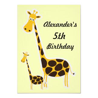 Fiesta de cumpleaños de Childs de las jirafas Comunicados Personalizados