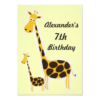 Fiesta de cumpleaños de Childs de las jirafas Anuncios Personalizados