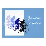 Fiesta de cumpleaños de encargo, bici, ciclo, invitación 12,7 x 17,8 cm