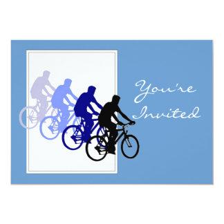 Fiesta de cumpleaños de encargo, bici, ciclo, comunicado personalizado