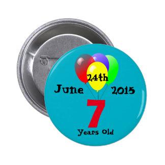 Fiesta de cumpleaños de encargo de DIY Pin Redondo De 2 Pulgadas