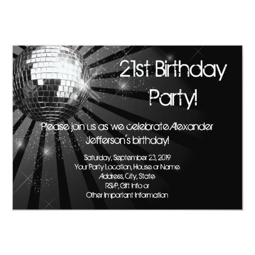 """Fiesta de cumpleaños de encargo de la bola de invitación 5"""" x 7"""""""