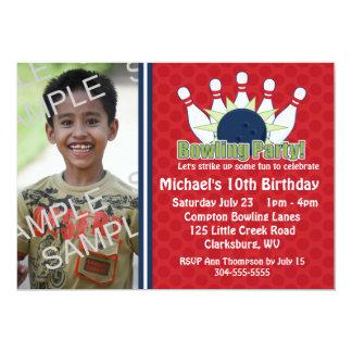 Fiesta de cumpleaños de encargo de los bolos de la invitación