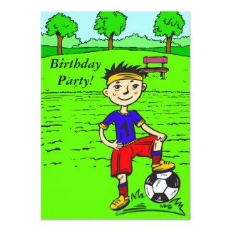 """Fiesta de cumpleaños de encargo del muchacho del invitación 5"""" x 7"""""""