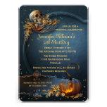 Fiesta de cumpleaños de Halloween del cráneo y de Anuncios Personalizados