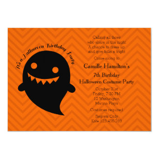 """Fiesta de cumpleaños de Halloween Invitación 4.5"""" X 6.25"""""""