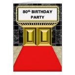 Fiesta de cumpleaños de la alfombra roja de la car tarjetas