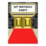 Fiesta de cumpleaños de la alfombra roja de la comunicado