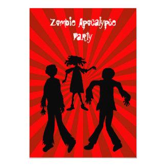 """Fiesta de cumpleaños de la apocalipsis del zombi invitación 5"""" x 7"""""""
