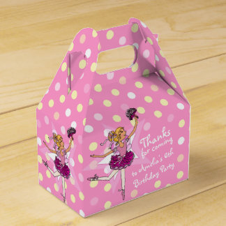 Fiesta de cumpleaños de la bailarina de los chicas caja para regalos