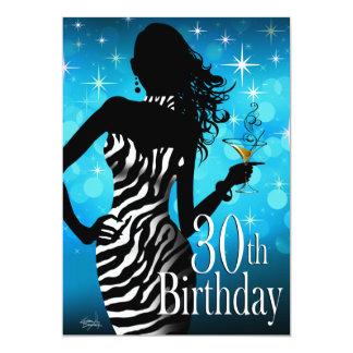 """Fiesta de cumpleaños de la cebra de la chispa de invitación 5"""" x 7"""""""