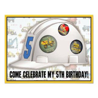 Fiesta de cumpleaños de la construcción del casco comunicado personal
