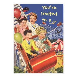 """Fiesta de cumpleaños de la diversión de la montaña invitación 5"""" x 7"""""""