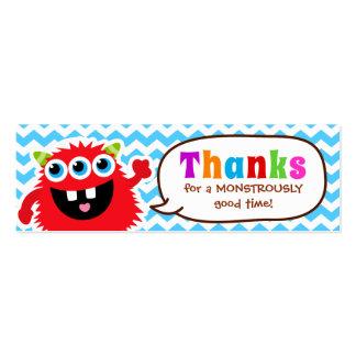 Fiesta de cumpleaños de la etiqueta del favor del tarjetas de visita mini