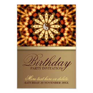 Fiesta de cumpleaños de la flor de la tierra de la invitación personalizada