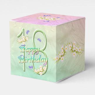 Fiesta de cumpleaños de la flor del arco iris de caja para regalo de boda