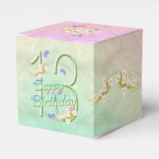 Fiesta de cumpleaños de la flor del arco iris de cajas para regalos de boda