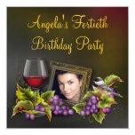 Fiesta de cumpleaños de la foto de la mujer invitacion personalizada
