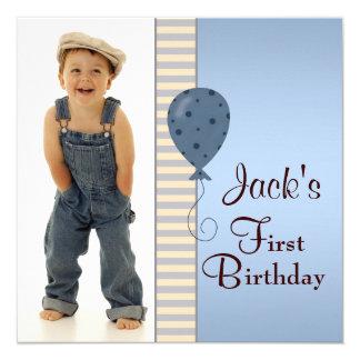Fiesta de cumpleaños de la foto de los muchachos invitación