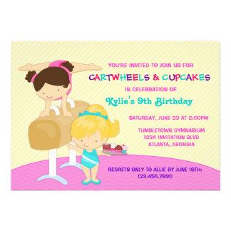 Fiesta de cumpleaños de la gimnasia de los Cartwhe Comunicado Personal