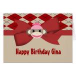 Fiesta de cumpleaños de la guinga del chica del mo felicitación