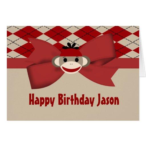 Fiesta de cumpleaños de la guinga del muchacho del tarjeta de felicitación