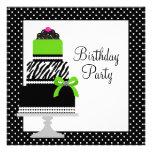 Fiesta de cumpleaños de la magdalena de la torta d anuncios personalizados