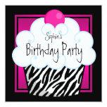 Fiesta de cumpleaños de la magdalena de los chicas anuncios personalizados