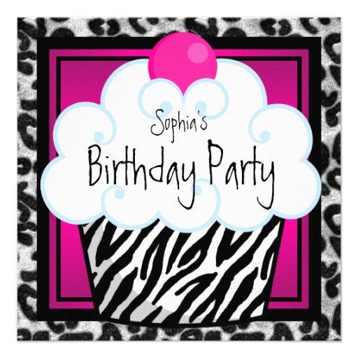 Fiesta de cumpleaños de la magdalena de los chicas anuncio