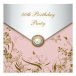 Fiesta de cumpleaños de la mariposa del oro de la  comunicado personalizado