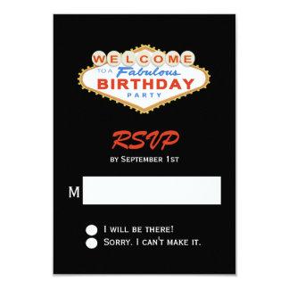 """Fiesta de cumpleaños de la muestra de Las Vegas Invitación 3.5"""" X 5"""""""