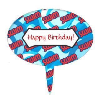 Fiesta de cumpleaños de la NADADA Palillos De Tarta