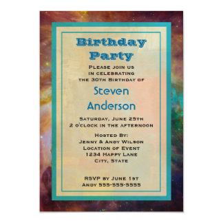 """Fiesta de cumpleaños de la nebulosa de Orión Invitación 5"""" X 7"""""""