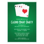 Fiesta de cumpleaños de la noche del casino invitación