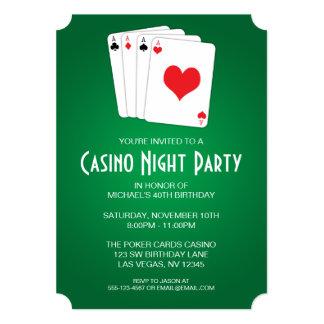 """Fiesta de cumpleaños de la noche del casino invitación 5"""" x 7"""""""