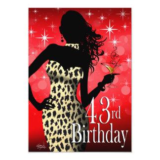 """Fiesta de cumpleaños de la onza de la chispa de la invitación 5"""" x 7"""""""