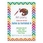 Fiesta de cumpleaños de la paleta del artista invitaciones personales