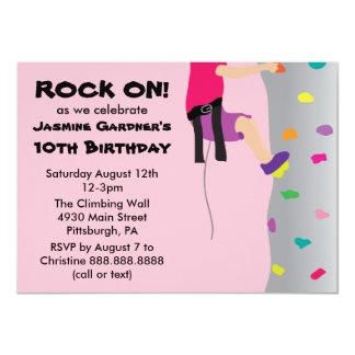"""Fiesta de cumpleaños de la pared de la roca del invitación 4.5"""" x 6.25"""""""