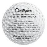Fiesta de cumpleaños de la pelota de golf invitación 13,3 cm x 13,3cm