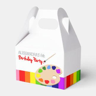 Fiesta de cumpleaños de la pintura de la paleta caja para regalos de fiestas
