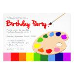 Fiesta de cumpleaños de la pintura de la paleta de