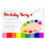 Fiesta de cumpleaños de la pintura de la paleta comunicados personales